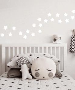 Wandaufkleber Weiße Sterne, 35 Aufkleber
