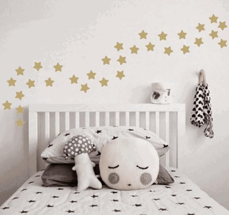 Wandaufkleber des Goldenen Sterns, 35 Aufkleber